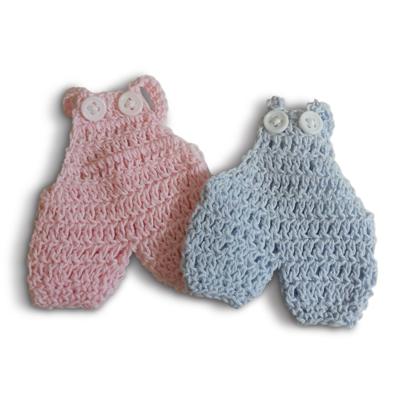 Baby Knitted Overall Blue or Pink (Tags and hangers sold seperately)