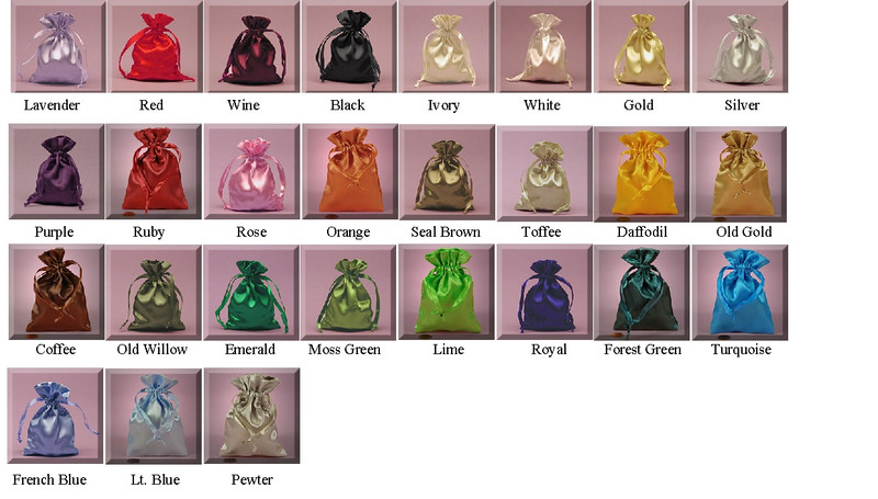 Satin Bags 5 x 8 / 21 Colors Available