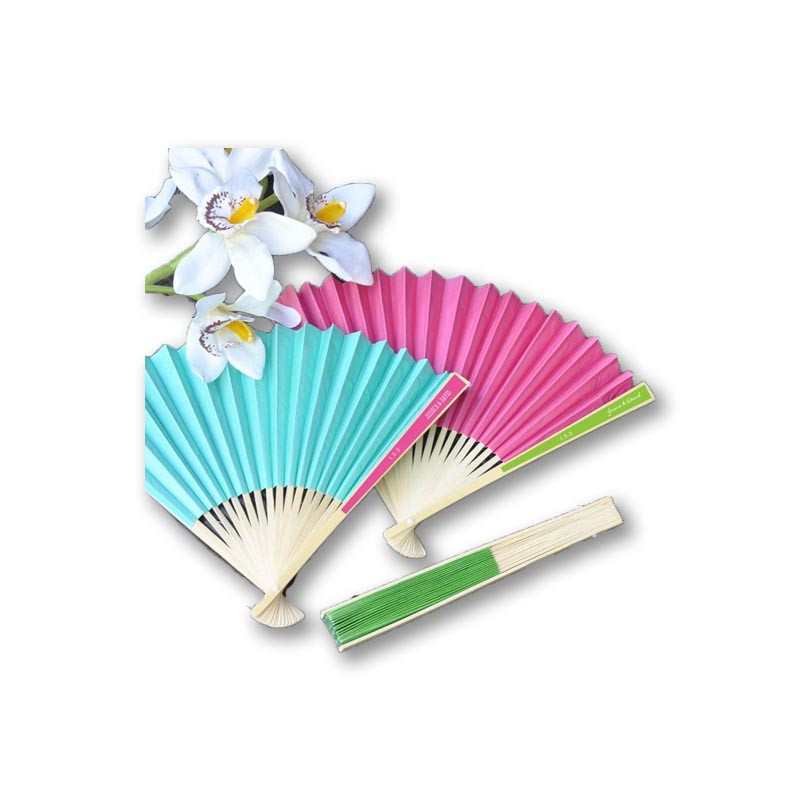 Personalized Colored Paper Fans