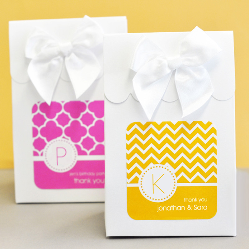 Sweet Shoppe Candy Boxes - MOD Pattern Monogram (set of 12)
