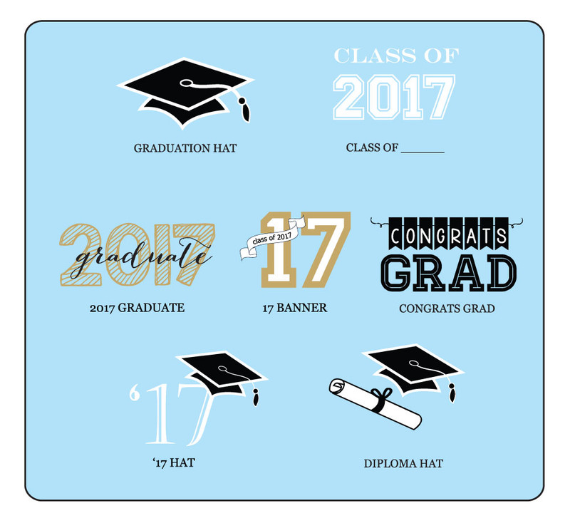 Graduation Cupcake Wrappers & Cupcake Toppers (Set of 24)