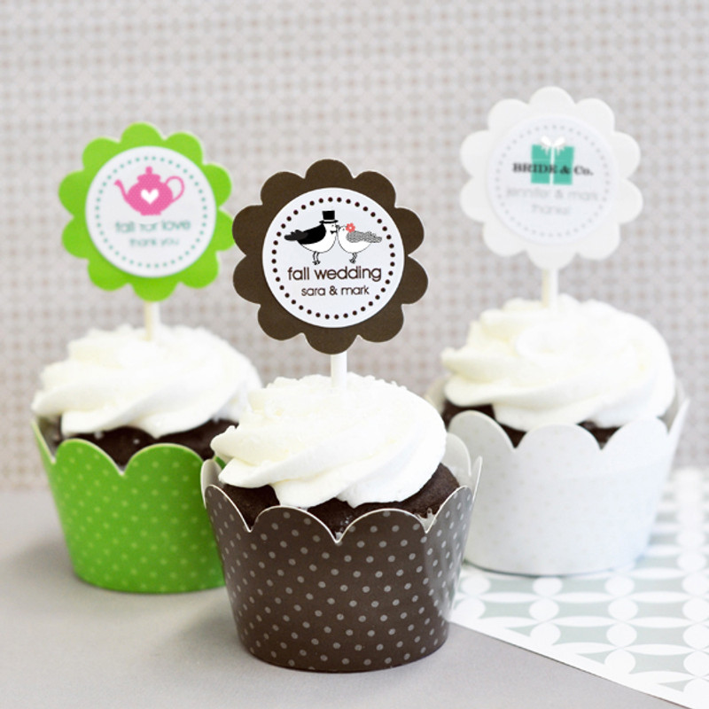 Theme Cupcake Wrappers & Cupcake Toppers (Set of 24)