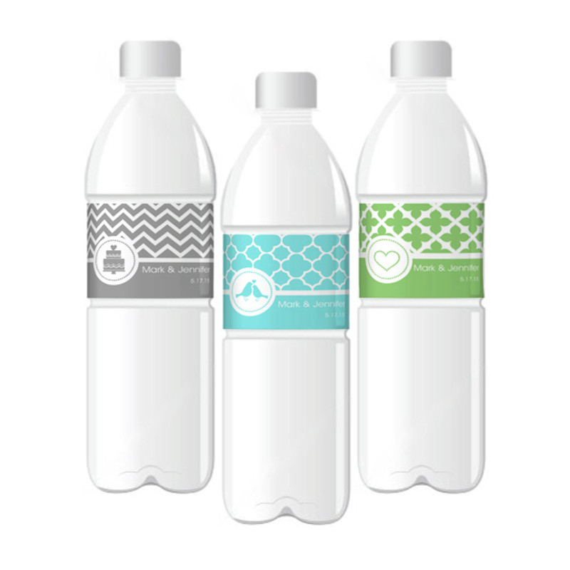 MOD Pattern Theme Water Bottle Labels