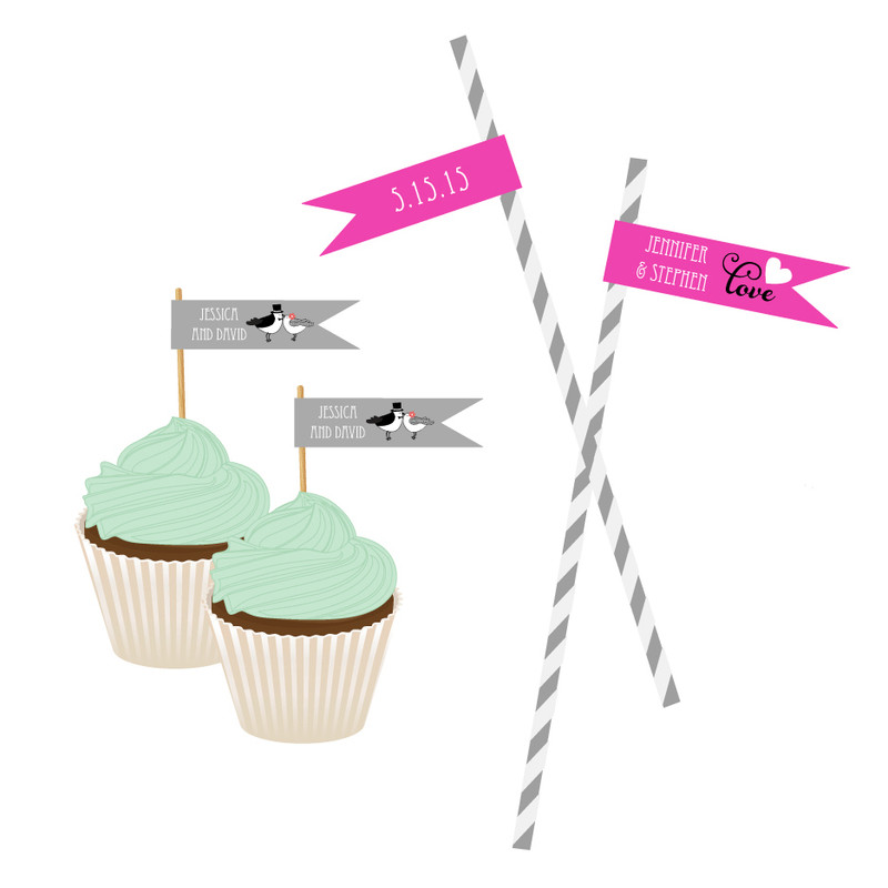 Personalized Theme Flag Labels