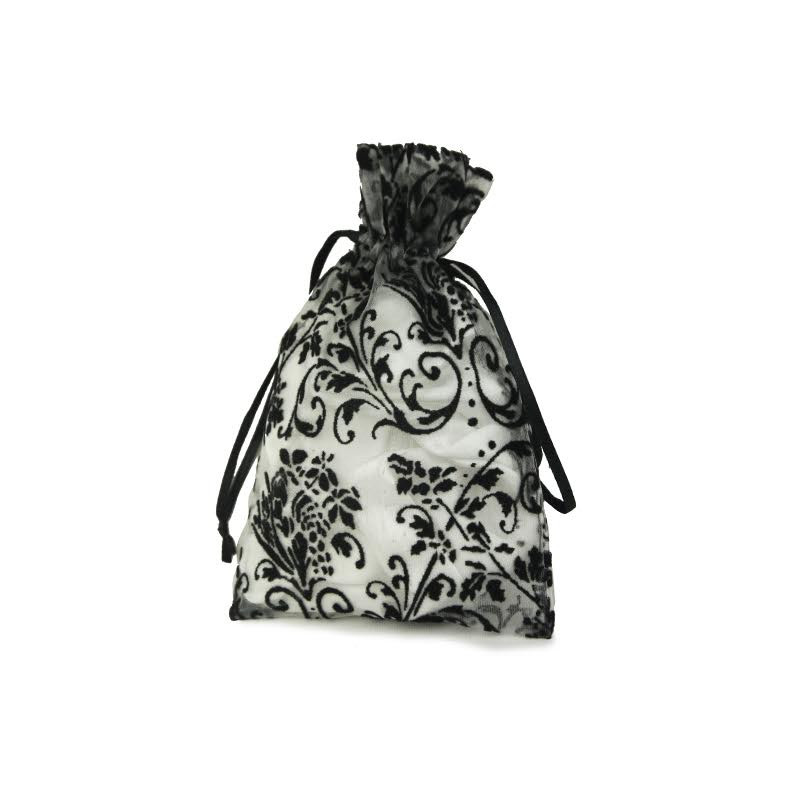 Damask On Organza Favor Bag