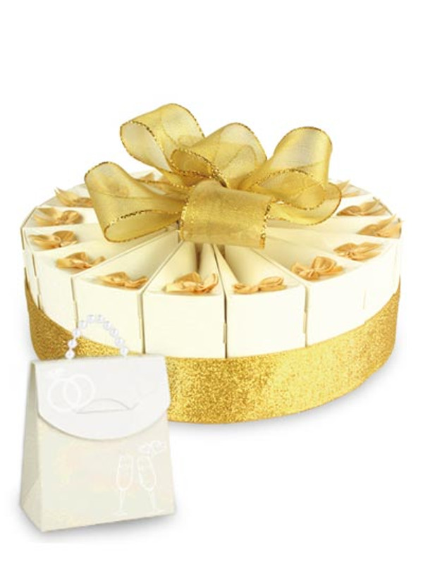 "Anniversary Gold Single Tier 8"" Favor Cake Kit"