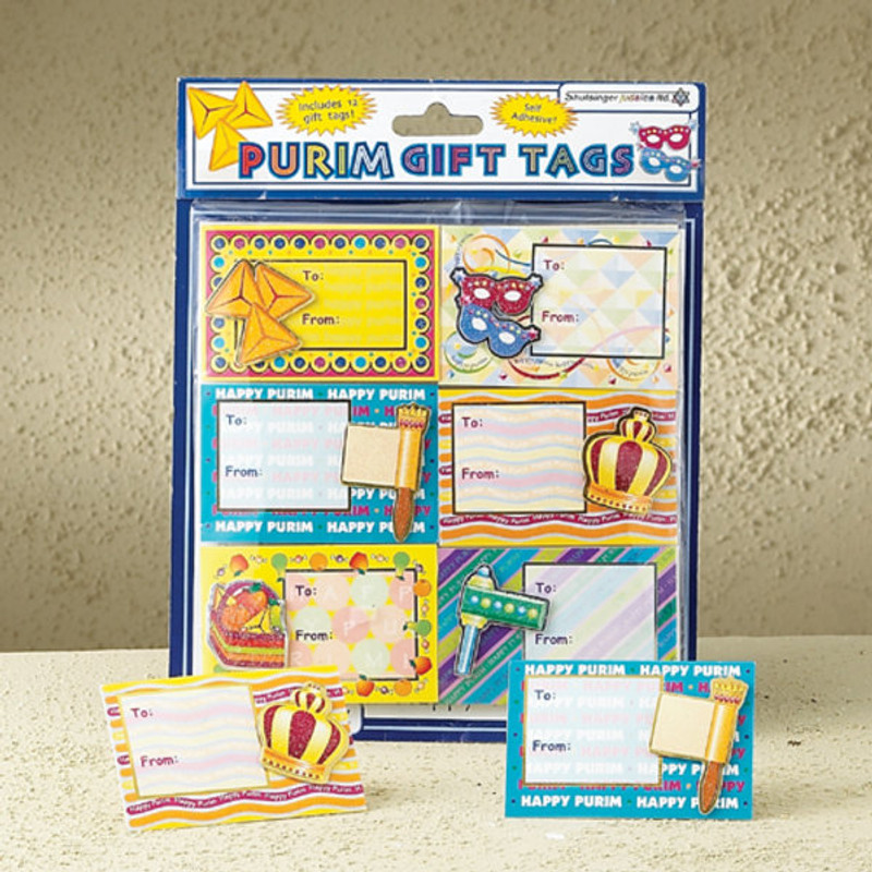 3D Self Adhesive Purim Gift Tags