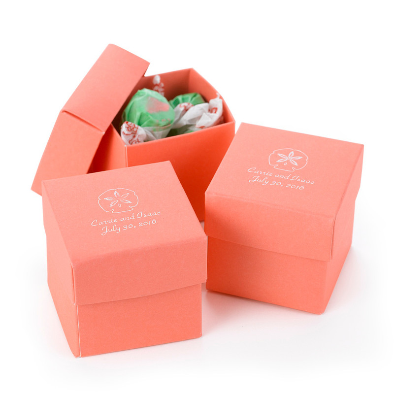 Coral 2 piece Favor Boxes (Pack of 25)