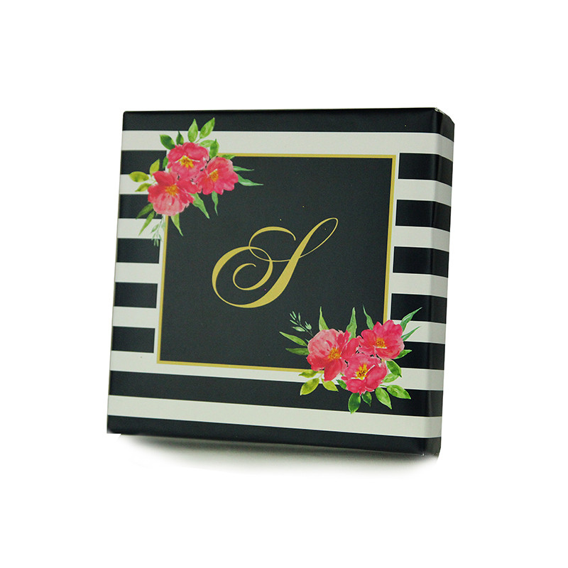 Rose Stripe Design Monogrammed Purim Box 4 Sizes Available.