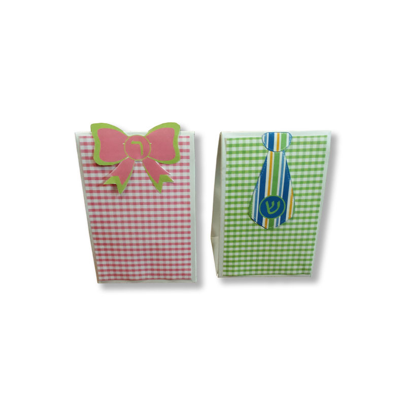Gingham Bow or Tie Goodie Box