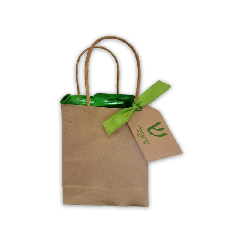 Kraft Handle Upsherin Bag with Personalized Tag (Ribbon Sold Seperately Below)