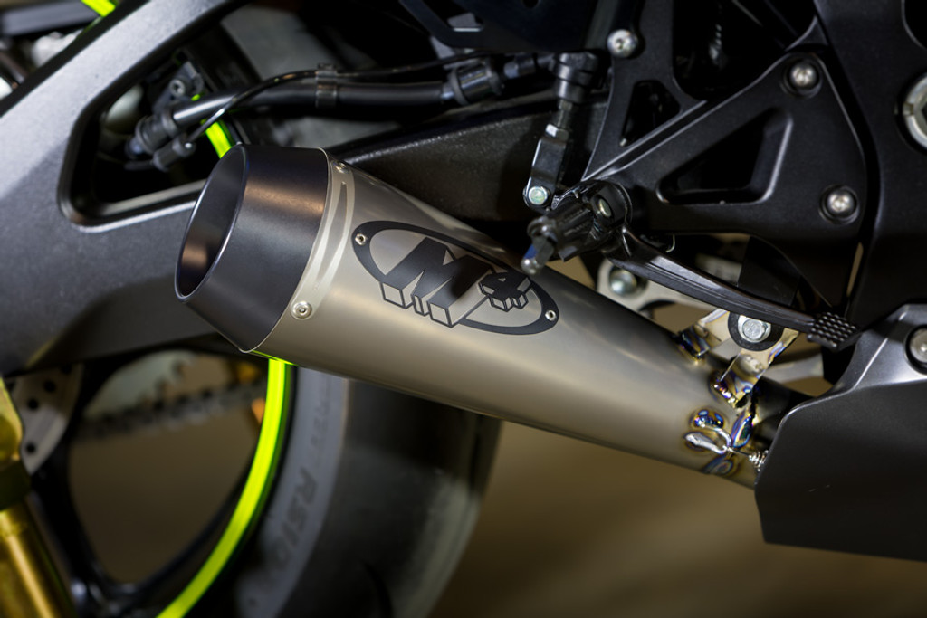 2017 GSX-R1000 GP Style Full System with Stainless Steel Tubing and TITANIUM Muffler