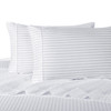 White Twin Extra Long Sheets 100% Cotton 500 Thread Count Damask Striped