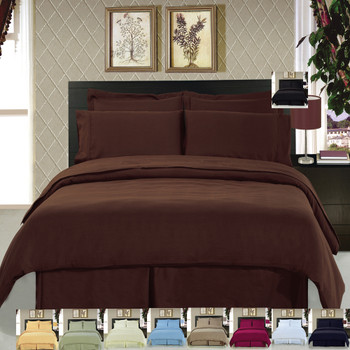 8 Piece Soft Easy Care 100% Microfiber Bed in a Bag Bedding Set