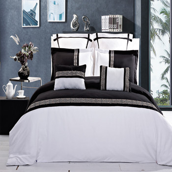 Black and White-Astrid-Multi-Piece-Embroidered-Duvet-Cover-Sets