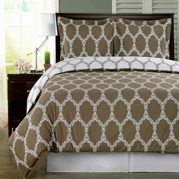 Taupe-Brooksfield-100%-Cotton-Duvet-Cover-Set