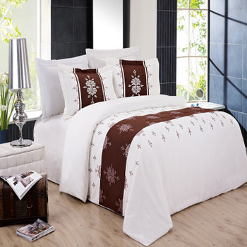 Eleanor Embroidered 3-Piece Duvet Cover Sets