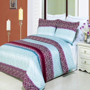 3 Piece Kimberly Printed Duvet cover Set