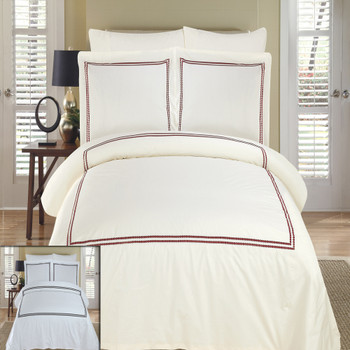 Maya Embroidered 100% Cotton Duvet Cover Sets