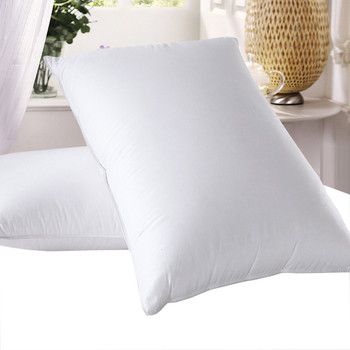Goose Down Pillows 600 Thread Count Medium Firm Neck Support Pillow (Single)