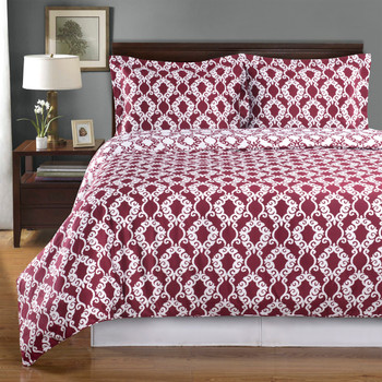 Burgundy-Sierra-Silky-Soft-100-Percent-Cotton-Reversible-Duvet-Cover-Set