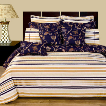 Lilian-11-Piece-Bed in a Bag-100%-Cotton-Reversible-Bedding-Set-Opposite-Side