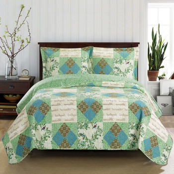 Davina Classic Patchwork Pattern Quilted Coverlet Mini Set