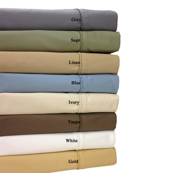 Wrinkle Free 650 Solid Combed Cotton sheets, pillowcases Collection Single Bed Sheet Sets