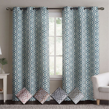 Alexander Blackout Weave Window Curtain Panels With Grommets (Pair)