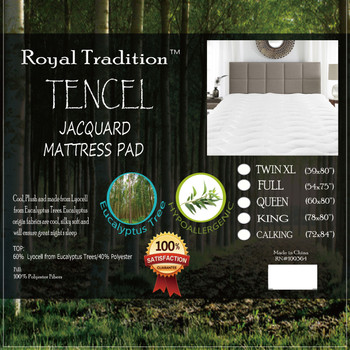 Lyocell from Eucalyptus Tencel Jacquard Mattress Pad