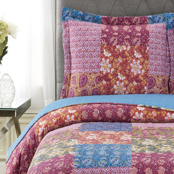 Kenzy Reversible Quilt set Detailed Image/Closeup