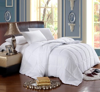 White Reversible Twin- Twin Xl Down Alternative Comforter