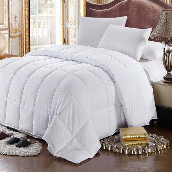 White Goose Feather-down Comforter 100% Cotton All Season Oversize