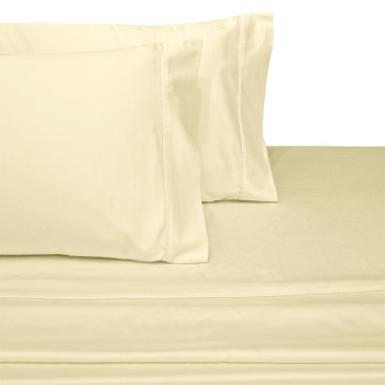Ivory-Olympic-Queen-100%-Cotton-600-Thread-Count-Solid-Sheets