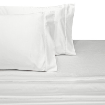 White-Twin-Extra-Long-100%-Cotton-300-Thread-Count-Solid-Sheet-Set