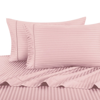 Twin Extra Long Sheets 100% Cotton 500 Thread Count Damask Striped