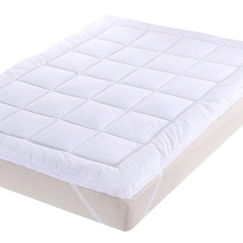2 Inch Thick Comfort Mattress Topper 100% Cotton Shell, White Alternative Down fill
