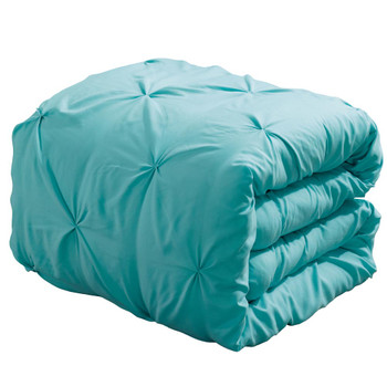 Aqua-Blue-Oxford-Luxury-Soft-Pinch-Pleated-Comforter