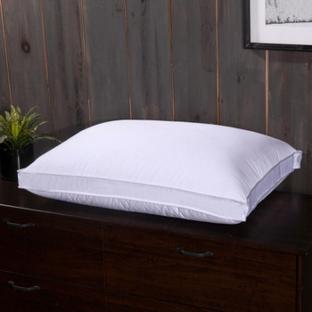 White Duck Down Pillow Shell Medium-Firm Neck Support