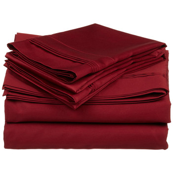 Triple Pleated 600 Thread Count 100% Egyptian Cotton Sateen Sheets