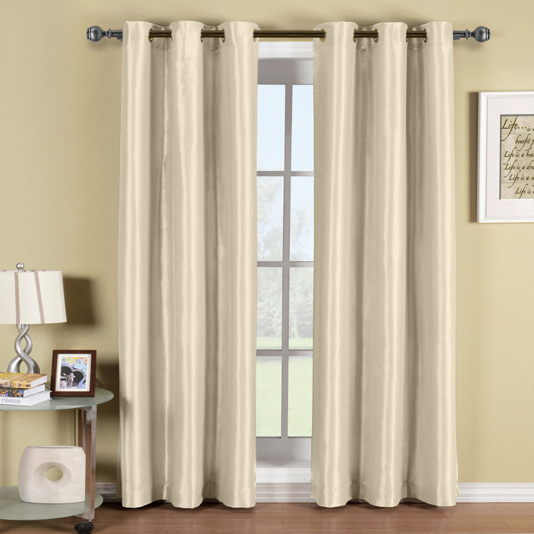 Beige-Soho-Thermal-Blackout-Grommet-Top-Curtain-Panels-Single
