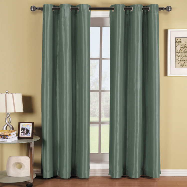 Blue-Soho-Thermal-Blackout-Grommet-Top-Curtain-Panels-Single