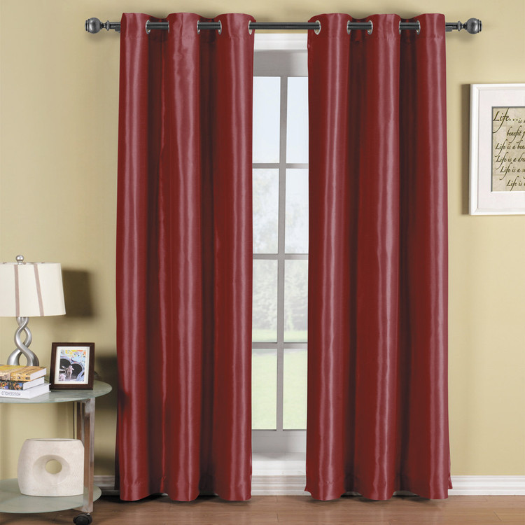 Burgundy-Soho-Thermal-Blackout-Grommet-Top-Curtain-Panels-Single