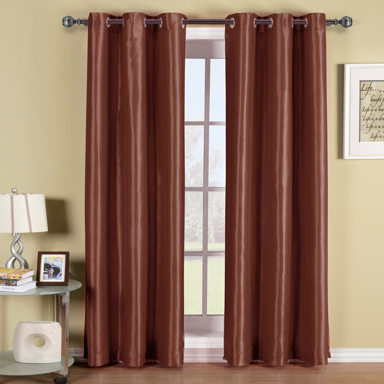 Rust-Soho-Thermal-Blackout-Grommet-Top-Curtain-Panels-Single