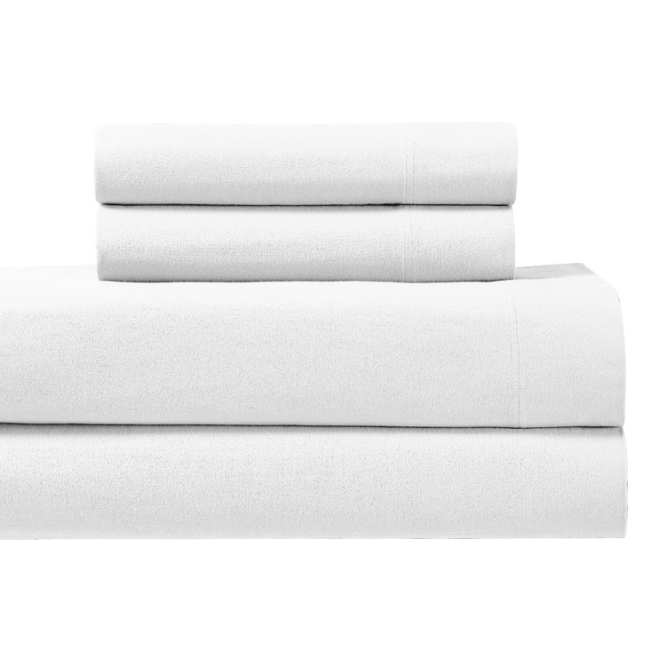 White-170GSM-Heavyweight-Cotton-Flannel-Sheets