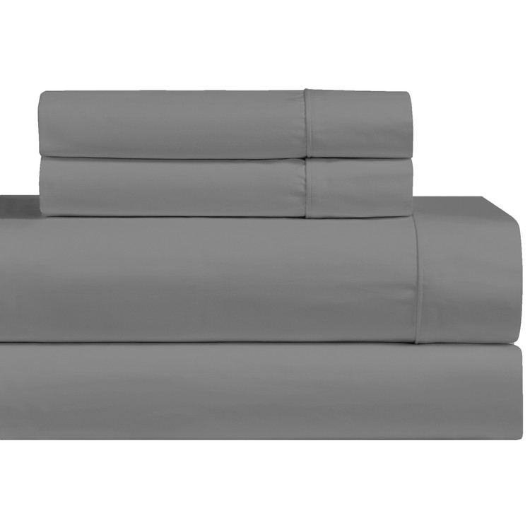 Gray-1000-Thread-Count-Cotton-Blend-Bed-Sheets