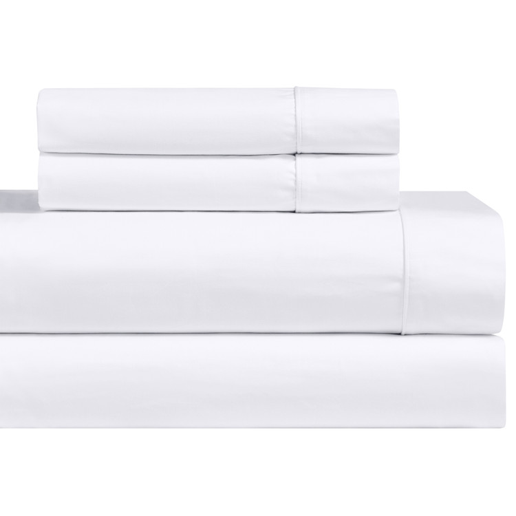 White-1000-Thread-Count-Cotton-Blend-Bed-Sheets