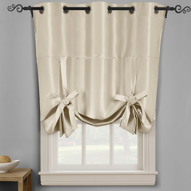 Soho Triple-Pass Thermal Insulated Blackout Curtain Top Grommet-Beige