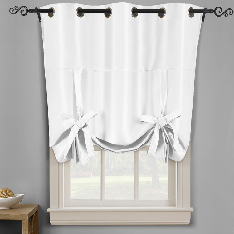 Soho Triple-Pass Thermal Insulated Blackout Curtain Top Grommet-White