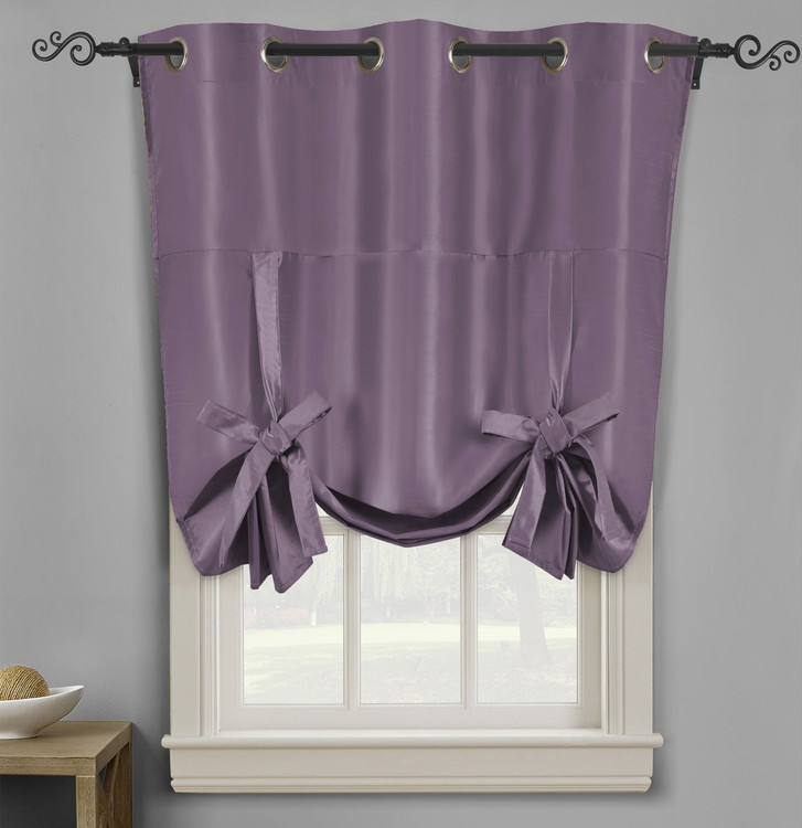 Soho Triple-Pass Thermal Insulated Blackout Curtain Top Grommet-Purple